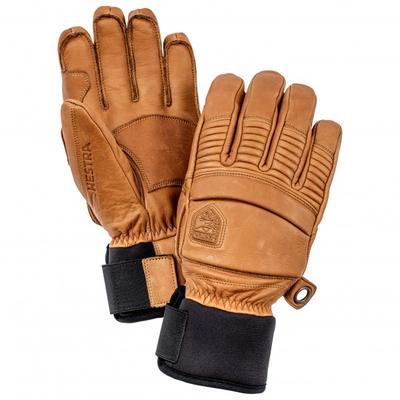 Hestra - Leather Fall Line 5 Finger - Handschuhe Gr 8 braun/beige/orange/schwarz