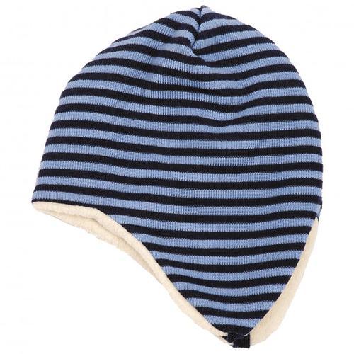 Reiff - Kid's Ohrenmütze Ringel Gr 42/44 schwarz/blau/grau