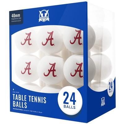 Alabama Crimson Tide 24-Count Logo Table Tennis Balls