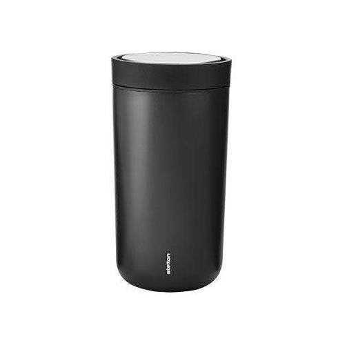 Stelton Thermobecher To Go Click, 200 ml schwarz und Coffee to go Geschirr, Porzellan Tischaccessoires Haushaltswaren
