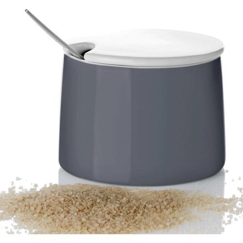 Stelton Zuckerdose Emma, (1 tlg.), 150 ml grau Tischaccessoires Geschirr, Porzellan Haushaltswaren