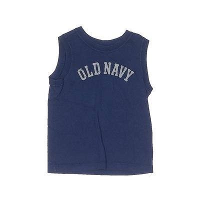 Old Navy Sleeveless T-Shirt: Blu...