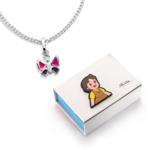 Set Silber Schmetterling 38 cm