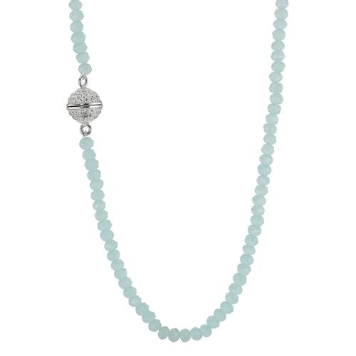 Collier Silber Kristall rhodiniert 38 cm