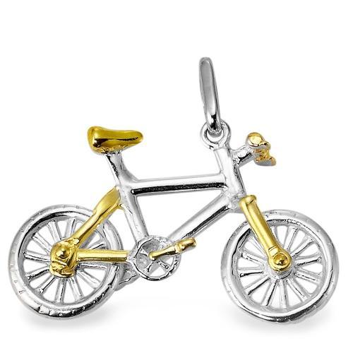 Anhänger Silber bicolor Mountainbike