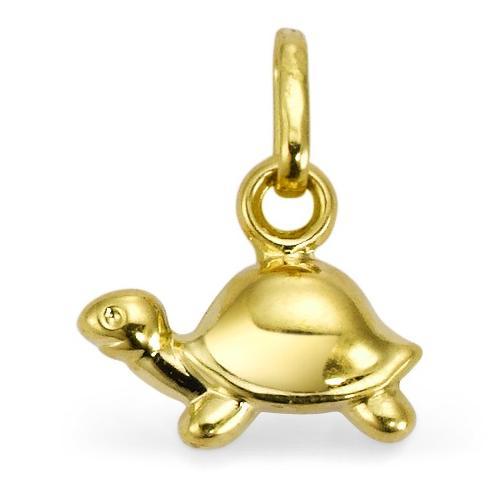 Anhänger 375/9 K Gelbgold Schildkröte