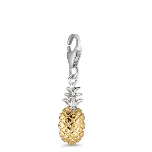 Charms Silber gelb bicolor Ananas