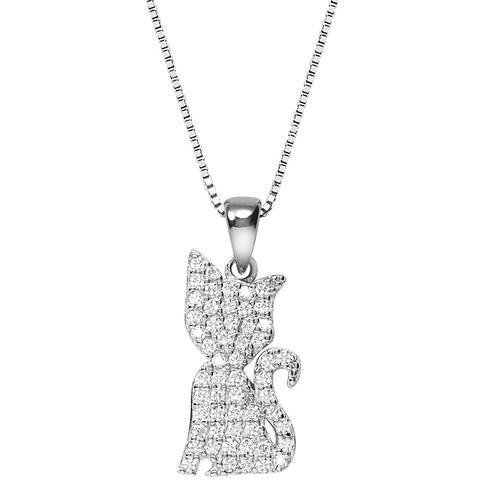 Halskette Silber 925 Katze