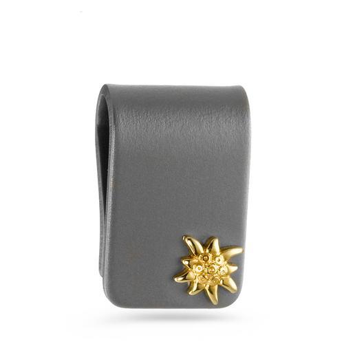 Anhänger Titan, 750/18 K Gelbgold Edelweiss