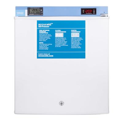 "Accucold FS24LMED2 18 1/2"" Countertop Pharmaceutical Freezer - Locking, White, 115v"