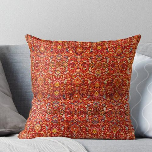 Hanbury Hall Axminster Carpet Print Throw Pillow