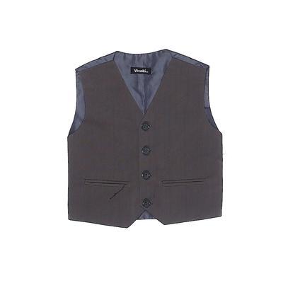 Assorted Brands Tuxedo Vest: Gray Jackets & Outerwear - Size 2