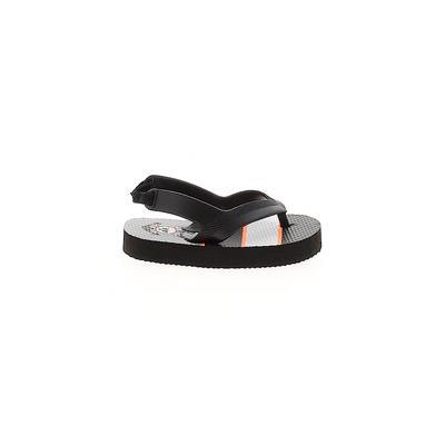 Flip Flops: Black Solid Shoes - ...