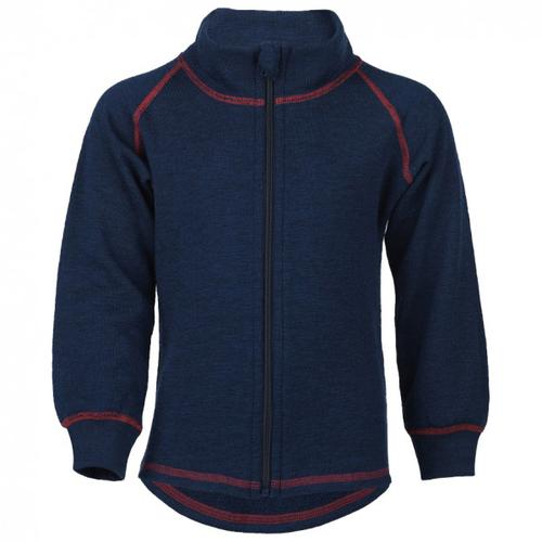 Engel - Kinder-Zip-Jacke Mit Kinnschutz - Wolljacke Gr 104;116;128;140;92 blau/schwarz;rot