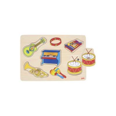 Goki - Wooden Musical Instruments Sound Puzzle - wood