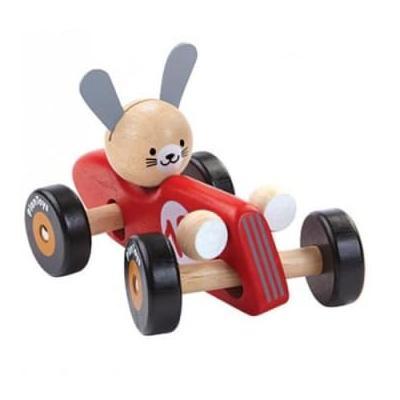 Plan Toys - Rabbit Racing Car Red