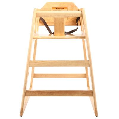"GET HC-100-MOD-N-KD-1 29"" High Chair w/ Waist Strap - Wood, Natural"