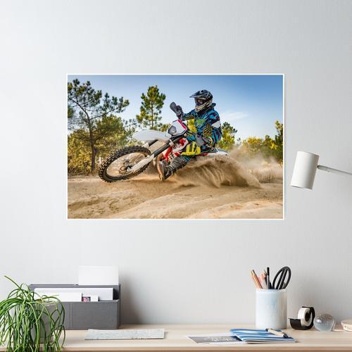 Enduro-Fahrradfahrer Poster