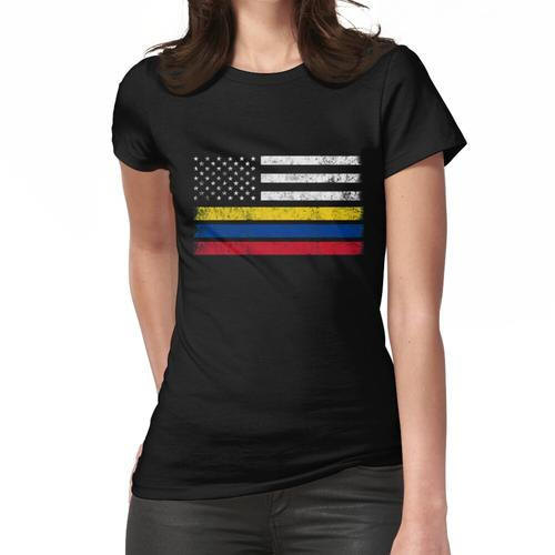 Colombian American Flag - USA Colombia Shirt Women's Fitted T-Shirt