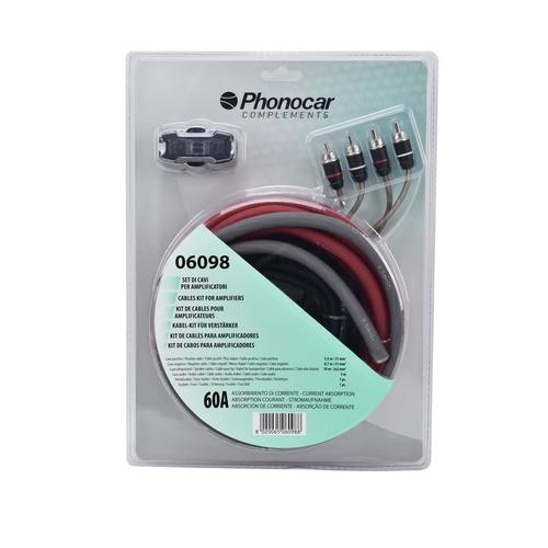 Kabel-Set Für Verstärker 21mm² 60 Amp. | Phonocar