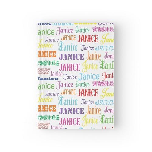 Geschenke für Janice - personalisierter Name Notizbuch