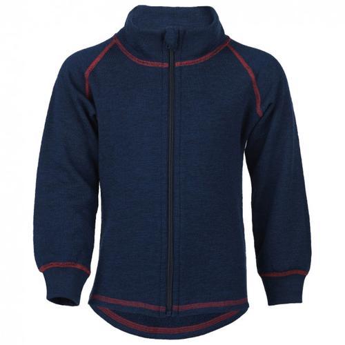 Engel - Kinder-Zip-Jacke Mit Kinnschutz - Wolljacke Gr 104 blau/schwarz
