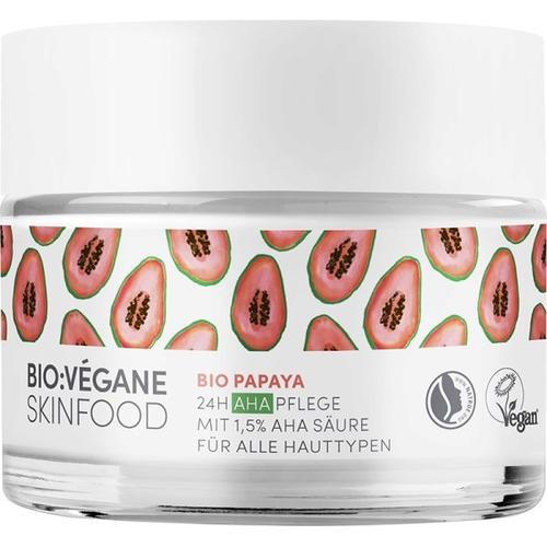 Bio:Végane Skinfood Bio Papaya 24h AHA Pflege 50 ml Gesichtscreme