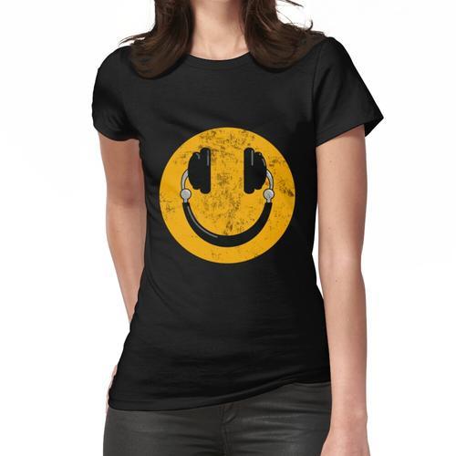 Kopfhörer Smile DJ Smiley Frauen T-Shirt