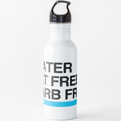Wasser Fettfrei Kohlenhydratfrei Hydro Homies Schwarz Wasserflasche