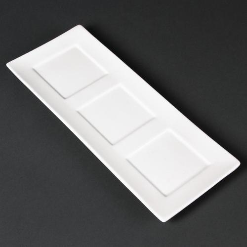 Lumina Präsentierschalen viereckige Aussparung 30 x 12cm, Packungsinhalt: 6 Stück