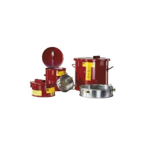 Tränk-/Tauchbehälter, Stahl, 19l, HxØ 330x349mm, rot