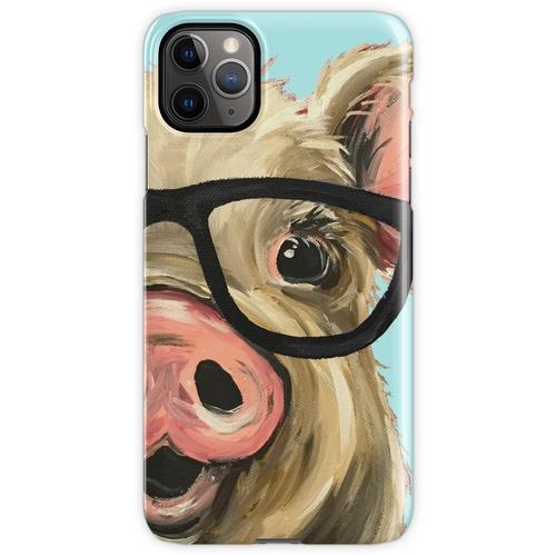 Nette Schwein-Kunst, Schwein mit Gläsern iPhone 11 Pro Max Handyhülle