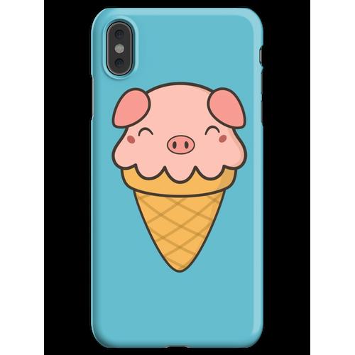 Appetitanregende Kawaii Cute Pig Ice Cream iPhone XS Max Handyhülle