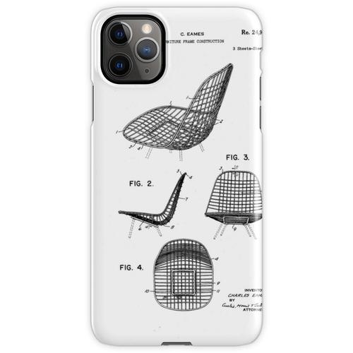 Eames - Draht Stuhl - Patent Artwork iPhone 11 Pro Max Handyhülle