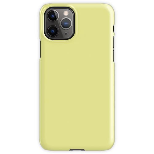 Pastellgelb / Pastellgelb Einfarbig iPhone 11 Pro Handyhülle