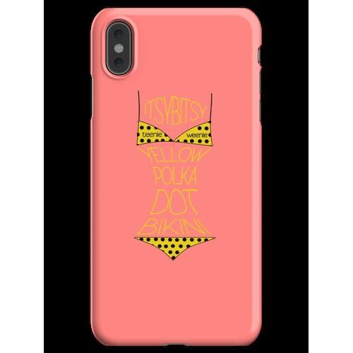 Gelber Polka Dot Bikini! iPhone XS Max Handyhülle
