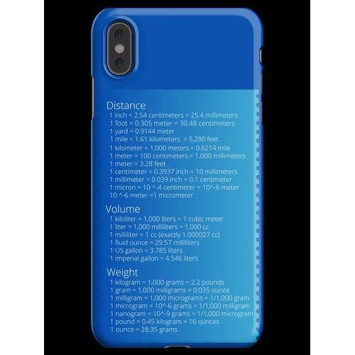 Metrisches Umrechnungstabelle iPhone XS Max Handyhülle