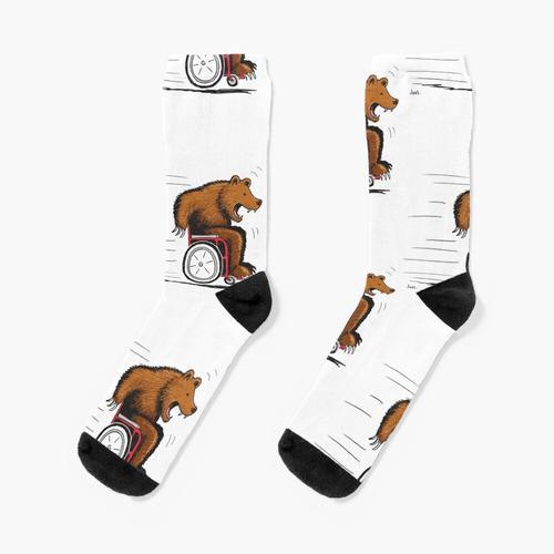 Im Rollstuhl tragen Socken