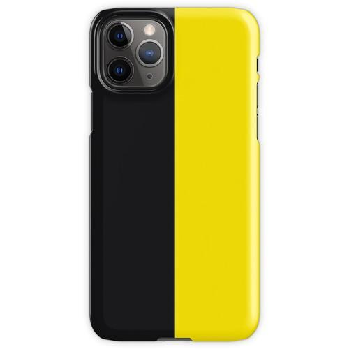 Watford Schwarzes und Gelbes Halbes Trikot iPhone 11 Pro Handyhülle