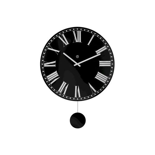 Sompex Clocks Pendeluhr Bari Pendeluhr / Ø 60x80x5cm / holz schwarz