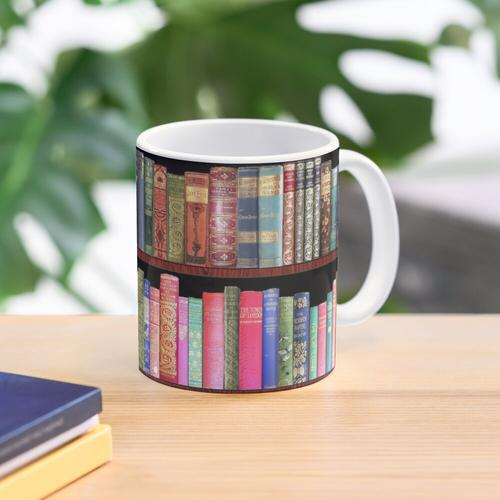 Jane austen antique books, British antique books Mug