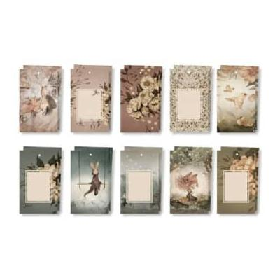Mrs Mighetto - Set of 10 Flowers and Tivoli Gift Tags - paper