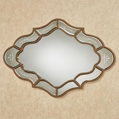 Keeva Wall Mirror Gold , Gold
