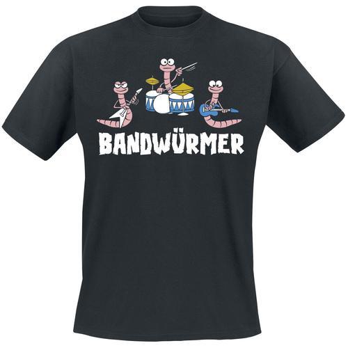 Bandwürmer Herren-T-Shirt - schwarz
