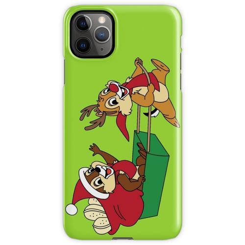 Chip und Dale auf einem Weihnachtsschlitten iPhone 11 Pro Max Handyhülle