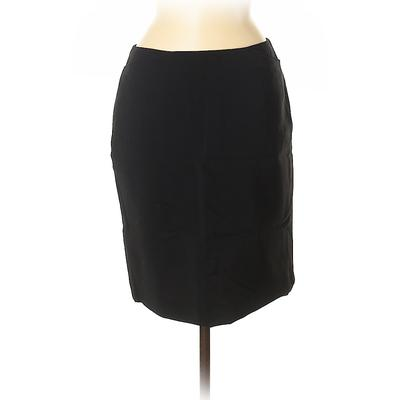 Willi Smith Wool Skirt: Black Solid Bottoms – Size 6
