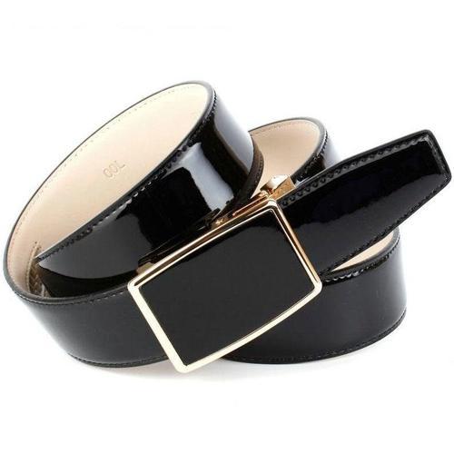 Anthoni Crown Ledergürtel, mit Automatik-Schließe in goldfarben schwarz Damen Ledergürtel Gürtel Accessoires
