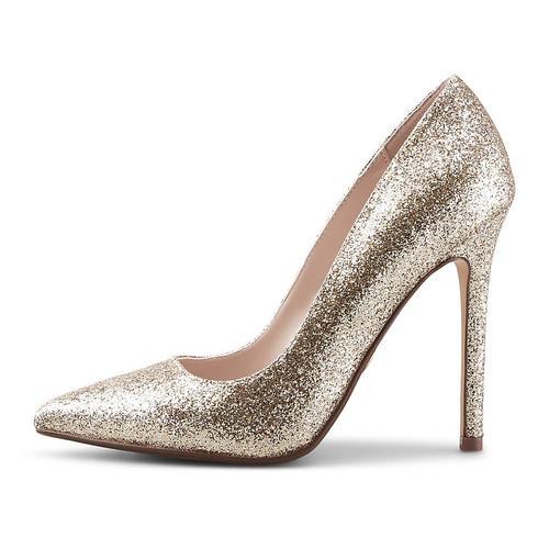 Buffalo, High-Heel-Pumps Amica in gold, Abendschuhe für Damen Gr. 41
