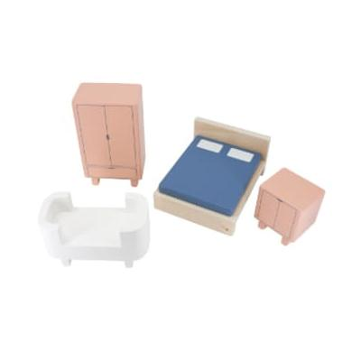 Sebra - Bed Room Set for The Doll's House - MDF/Plywood