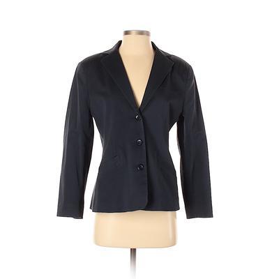 L.L.Bean Blazer Jacket: Blue Solid Jackets & Outerwear - Size 0